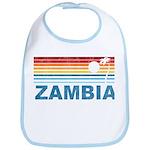 Retro Palm Tree Zambia Bib