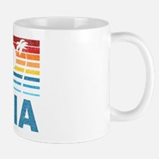 Retro Palm Tree Zambia Mug