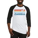 Retro Palm Tree Zambia Baseball Jersey