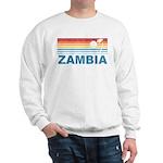 Retro Palm Tree Zambia Sweatshirt