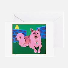 Rosie Husky Greeting Card
