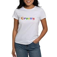 Distressed Groovy Women's T-Shirt