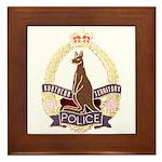 Northern Territory Police Framed Tile