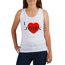 I Love John! Women's Tank Top
