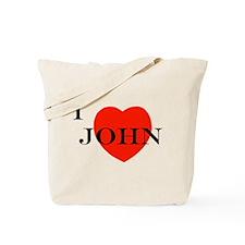 I Love John! Tote Bag