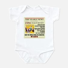 born in 1950 birthday gift Infant Bodysuit