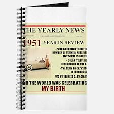 born in 1951 birthday gift Journal