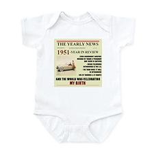 born in 1951 birthday gift Infant Bodysuit