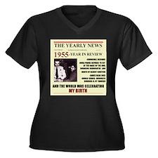 born in 1955birthday gift Women's Plus Size V-Neck