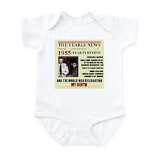 born in 1955birthday gift Infant Bodysuit