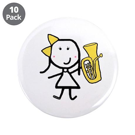 "Girl & Baritone 3.5"" Button (10 pack)"