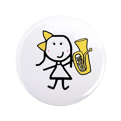 "Girl & Baritone 3.5"" Button (100 pack)"
