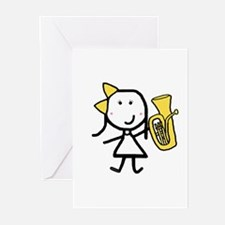 Girl & Baritone Greeting Cards (Pk of 10)