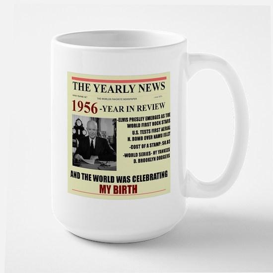born in 1956 birthday gift Large Mug