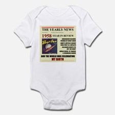 born in 1958 birthday gift Infant Bodysuit