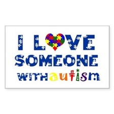 I love someone with Autism Rectangle Decal