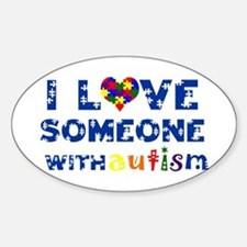 I love someone with Autism Oval Decal
