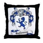 Galloway Family Crest Throw Pillow