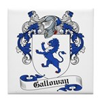 Galloway Family Crest Tile Coaster