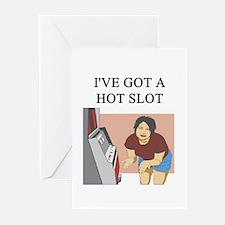 slot machine Greeting Cards (Pk of 10)