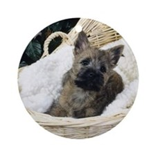 Cairn Terrier Pup Ornament (Round)