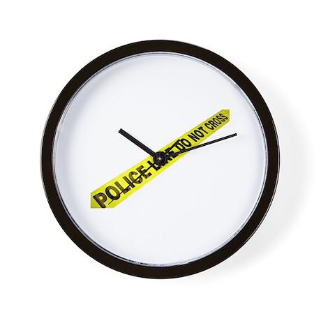 Police Line Wall Clock