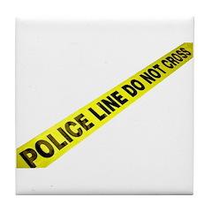 Police Line Tile Coaster