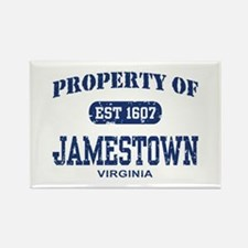 Property of Jamestown Rectangle Magnet