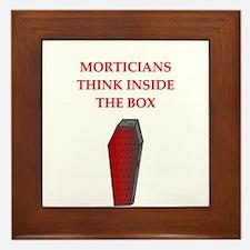 mortician undertaker Framed Tile