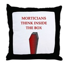 mortician undertaker Throw Pillow