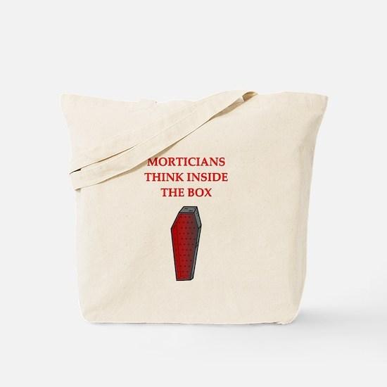 mortician undertaker Tote Bag