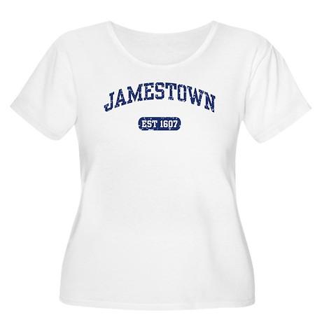 Jamestown Est 1607 Women's Plus Size Scoop Neck T-