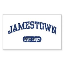 Jamestown Est 1607 Rectangle Decal