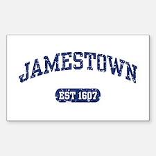 Jamestown Est 1607 Rectangle Decal