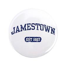 "Jamestown Est 1607 3.5"" Button"