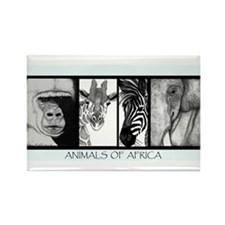 Animals of Africa Rectangle Magnet