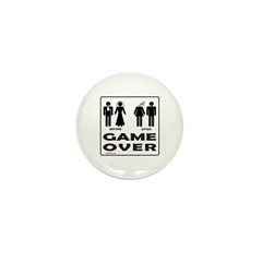 GAME OVER Mini Button (100 pack)