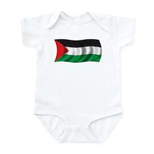 Wavy Palestine Flag Infant Bodysuit