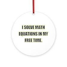 Math Equations Ornament (Round)