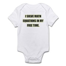 Math Equations Infant Bodysuit