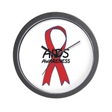 Aids Awareness Wall Clock