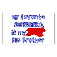 Big Brother Superhero Rectangle Decal