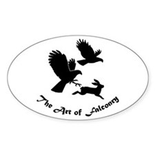 Art of Falconry-HH Oval Decal