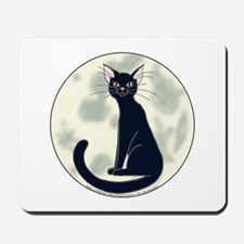Black Cat & Full Moon Mousepad