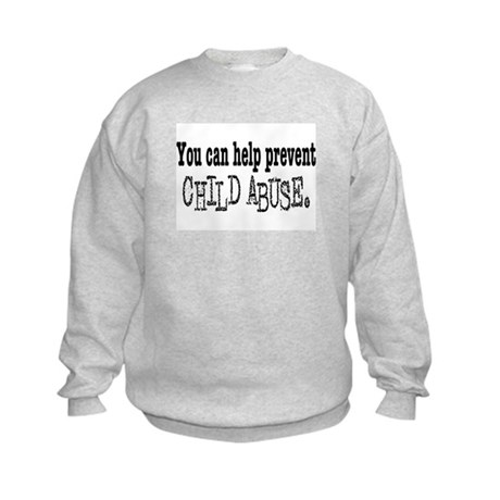 You Can Help Prevent Child Abuse Kids Sweatshirt