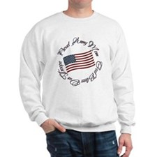 God Bless Our Troops, Proud Army Mom Sweatshirt