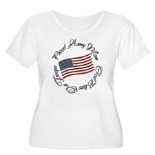 God Bless Our Troops, Proud Army Mom T-Shirt