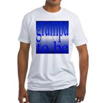 108b.grampa to be [blue on bl Fitted T-Shirt