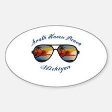 Cute South haven michigan lighthouse Sticker (Oval)