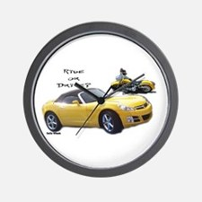 Ride or Drive Wall Clock